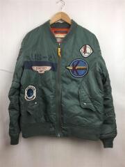 MA-1/フライトジャケット/ブルゾン/ワッペン/XXL/ナイロン/KHK/6132056