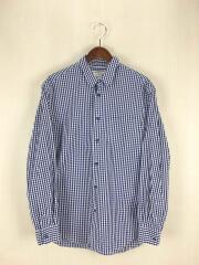 touki button no shirts/陶器釦のシャツ/L/コットン/BLU/ギンガムCK