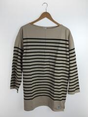 バスクシャツ/カットソー/長袖Tシャツ/8/コットン/BEG/ボーダー