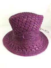 ラフィアハット/ZAIDA/Viola/パープル/紫/ワンサイズ/帽子