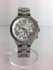 クォーツ腕時計/アナログ/ステンレス/WHT/SLV/MK-5776