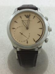 Hybrid  Watch/レザー/ブラウン/ブラウン/ART3014