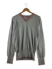 セーター(薄手)/XL/コットン/グレー/TKN-S16CL03