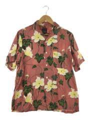 アロハシャツ/0/レーヨン/PNK/花柄/パラディースシャツ