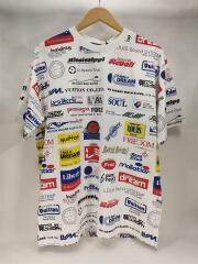 Tシャツ/L/コットン/WHT/総柄/2019AW/オールオーバーロゴプリンテッド/白/2019AW