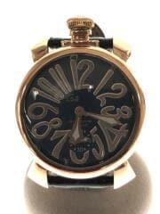 自動巻腕時計/アナログ/レザー/茶色/5011.5 6832