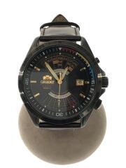 腕時計/アナログ/レザー/黒/ブラウン/eu03-e0 ca