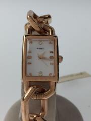 ワイアード/クォーツ腕時計/アナログ/ステンレス/1N01-0NP0/シェル文字盤/チェーンベルト