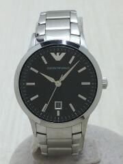 クォーツ腕時計/アナログ/ステンレス/BLK/エンポリオアルマーニ/AR-9107L