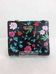 ケイトスペードニューヨーク/2つ折り財布/レザー/BLK/花柄