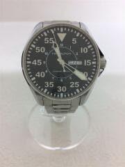 自動巻腕時計/アナログ/ステンレス/BLK/SLV