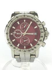 クォーツ腕時計/アナログ/ステンレス/BRD/GRY/クロノグラフ/Limited Edition