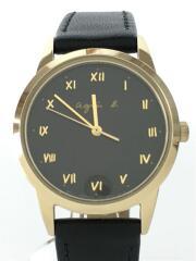 ソーラー腕時計/アナログ/BLK/BLK/v117-KNY0/9D0185
