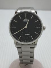 クォーツ腕時計/アナログ/ステンレス/BLK/SLV/VL58-UAA0