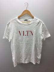 18SS/ガラヴァーニ/VLTNロゴ/シミ有/Tシャツ/M/コットン/WHT/TV3MG10V3LE