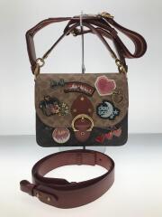 ショルダーバッグ/レザー/BRW/C0767/BEAT SHOULDER BAG IN SIGNATURE