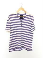 ポロシャツ/XL/コットン/ボーダー/ブルー/アルマーニジーンズ