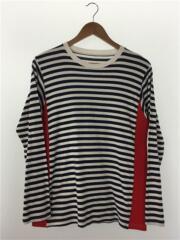 L/S SIDE PANEL BORDER TEE/長袖Tシャツ/M/ボーダー/SOPH-134108/ソフ