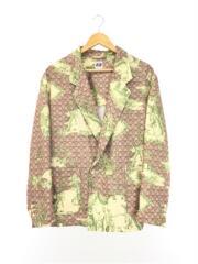 テーラードジャケット/S/20ss/EZ jacket/ベージュ/総柄/エーアイイー