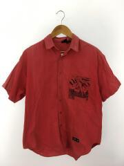 S12292/半袖シャツ/M/コットン/レッド/ガッチャ