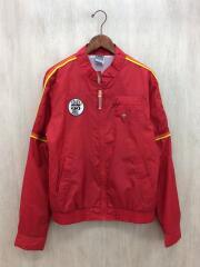 ジップアップジャケット/L/ポリエステル/RED
