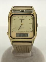 クォーツ腕時計/デジアナ/ステンレス/GLD/GLD/96943-40