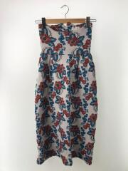 ロングスカート/ラメフラワージャガードスカート/FREE/ポリエステル/WHT/花柄/TN18SS012