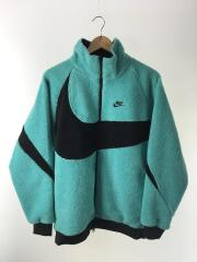 REVERSIBLE BIG SWOOSH BOA JACKET/フリースジャケット/M/GRN/BQ6546-301