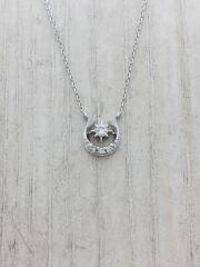 K18/DIAMOND HORSESHOE NECKLACE/ネックレス/--/トップ有