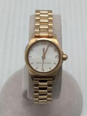 クォーツ腕時計/アナログ/--/WHITE/GOLD/MJ3587