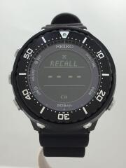 prospex/フィールドマスター/ソーラー腕時計/デジタル/ラバー/BLACK/S802-00A0