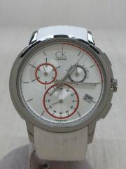 クォーツ腕時計/アナログ/ラバー/WHITE/WHITE/K1V 279