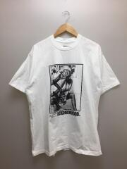 Tシャツ/XL/コットン/WHT/ホワイト