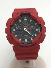 クォーツ腕時計・G-SHOCK/デジアナ/RED