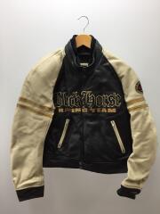 レザージャケット・ブルゾン/L/牛革/BLACK/K0XBB-359