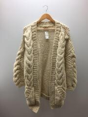トゥデイフル/カーディガン(厚手)/38/ウール/ホワイト/18aw/Cable Hand knit Card