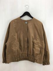 起毛オックスノーカラー裾ギャザーブルゾン/FREE/コットン/CML/90-01-BZ-002-18-2
