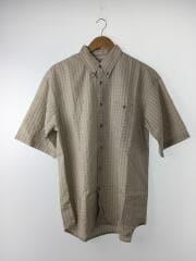 BDシャツ/長袖シャツ/M/ポリエステル/CRM/オンブレCK/s3tm7456