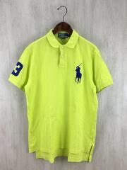 CUSTOM FIT/ビッグポニー/ポロシャツ/L/コットン/YLW