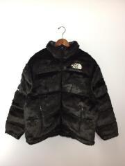 ■タグ付/20AW/×TNF/Fur Nuptse Jacket/ダウンジャケット/L/アクリル/BLK