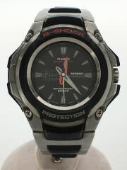 クォーツ腕時計・G-SHOCK/アナログ/チタン/WHT/SLV