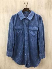 20年モデル/エコレザーシャツカバーオール/one/ポリエステル/BLU■09WFJ201105