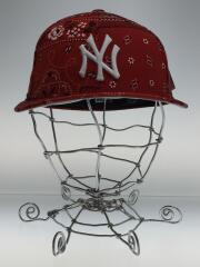 Yankees Deconstructed Bandana Low Profile Cap /コットン/RED