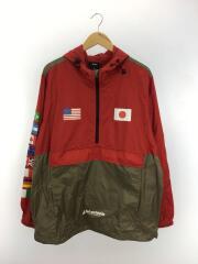 ナイロンジャケット/XL/ナイロン/RED
