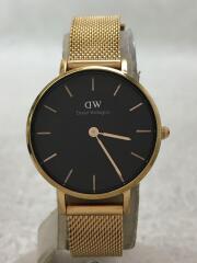 クォーツ腕時計/アナログ/--/BLK/GLD