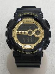 GD-100GB-1JF/クォーツ腕時計・G-SHOCK/デジタル/ラバー/BLK/BLK