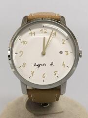 クォーツ腕時計/VJ32-KTD0/アナログ/レザー/WHT/CML