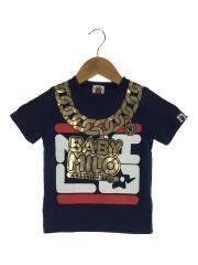 Tシャツ/110cm/コットン/ネイビー/ゴールド/チェーン
