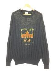 セーター/4/コットン/ネイビー/7112-6302/レーヨン混/刺繍