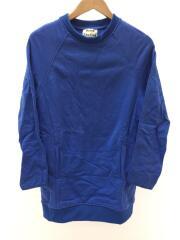 ラグランスリーブロングスウェット/XS/コットン/ブルー/EUM-1651/アクネ/ポケット付き